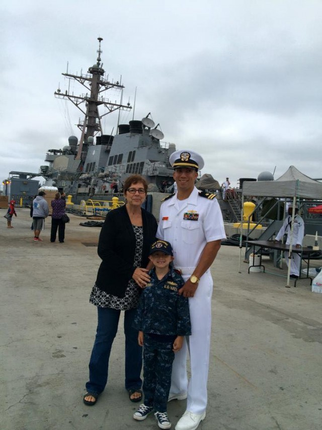 """This pic is of my Son, his Son and I the morning he was deploying this past July. His name is Alexander Brown and he in the U.S. Navy, currently out in the Arabian Gulf on the USS Higgins."" - Cindy Spencley, National Marketing Director, Coldwell Banker Real Estate, LLC"