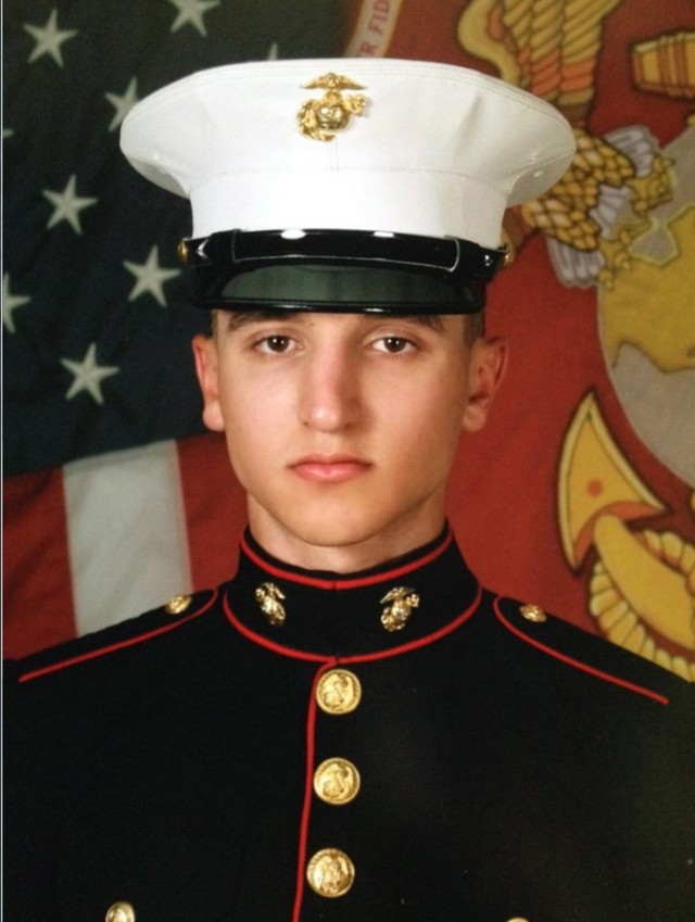 """This is my Son Richard M. Rossetti - he is an active Marine stationed in Quantico, VA as an Air Traffic Controller. This Veterans Day I would like to send out a special thank you to him and all servicemen and women for their service and the sacrifices they make every day for this great country!"""