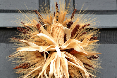 Thanksgiving Decoration Ideas: Wreath