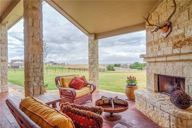 Outdoor fireplace in Aledo