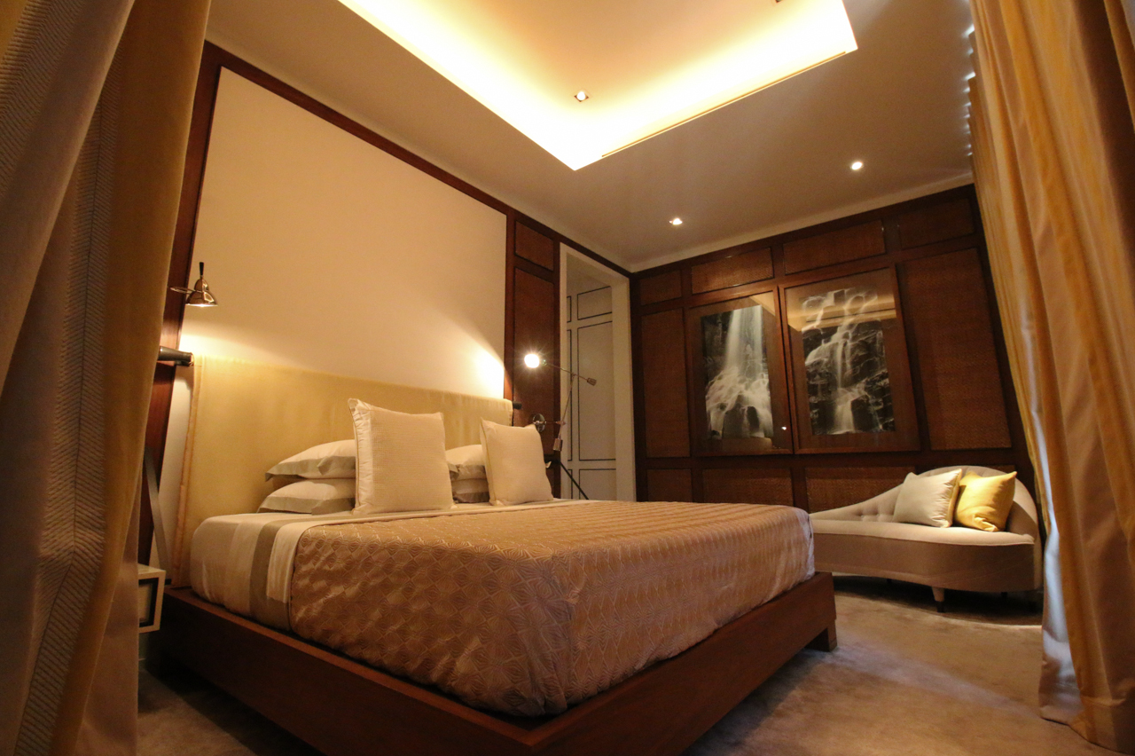 Master bedroom designed by David Collins Studio