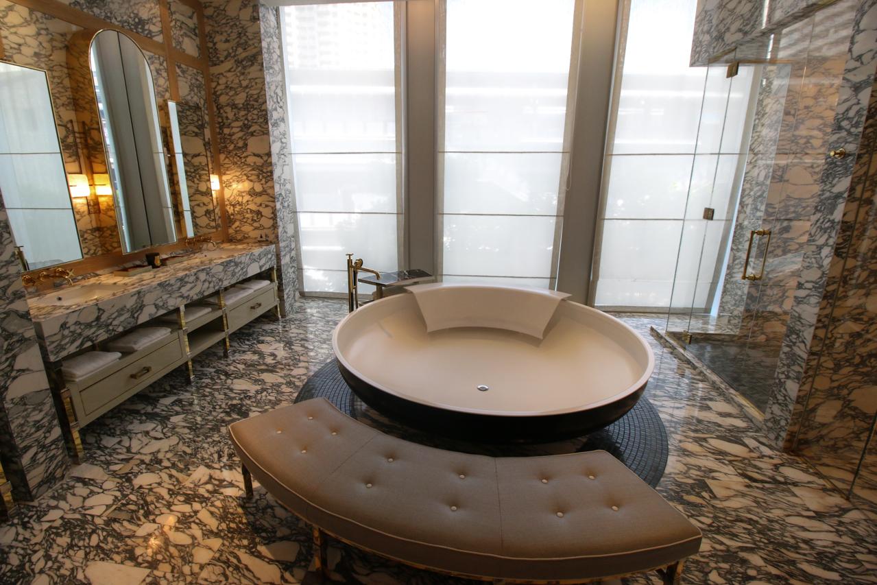 Luxurious bathroom at the Ritz-Carlton Residences, Bangkok