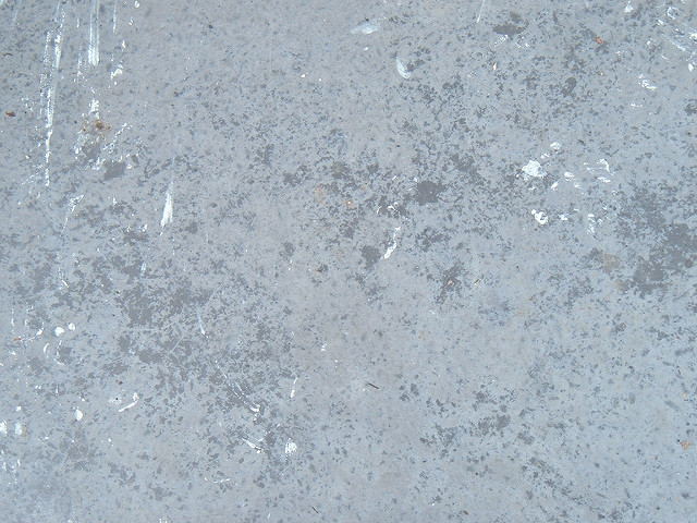 Closeup of polished concrete floor