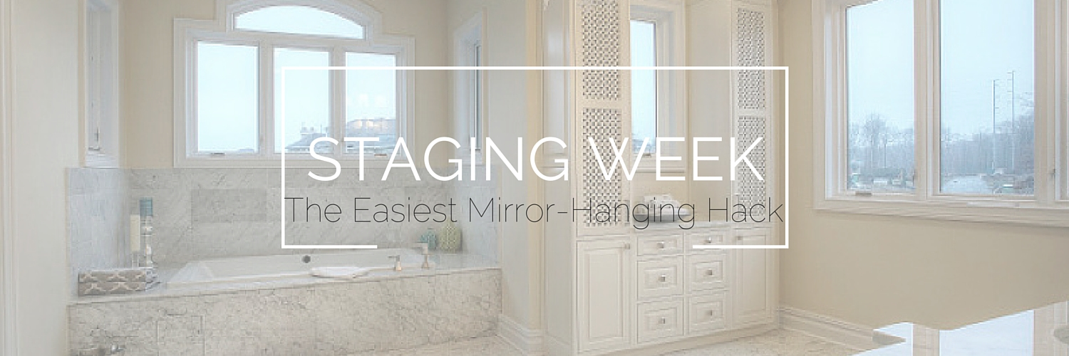 A Super Simple Mirror Hanging Hack Coldwell Banker Blue Matter