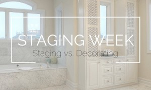 Staging Week Staging vs. Decorating