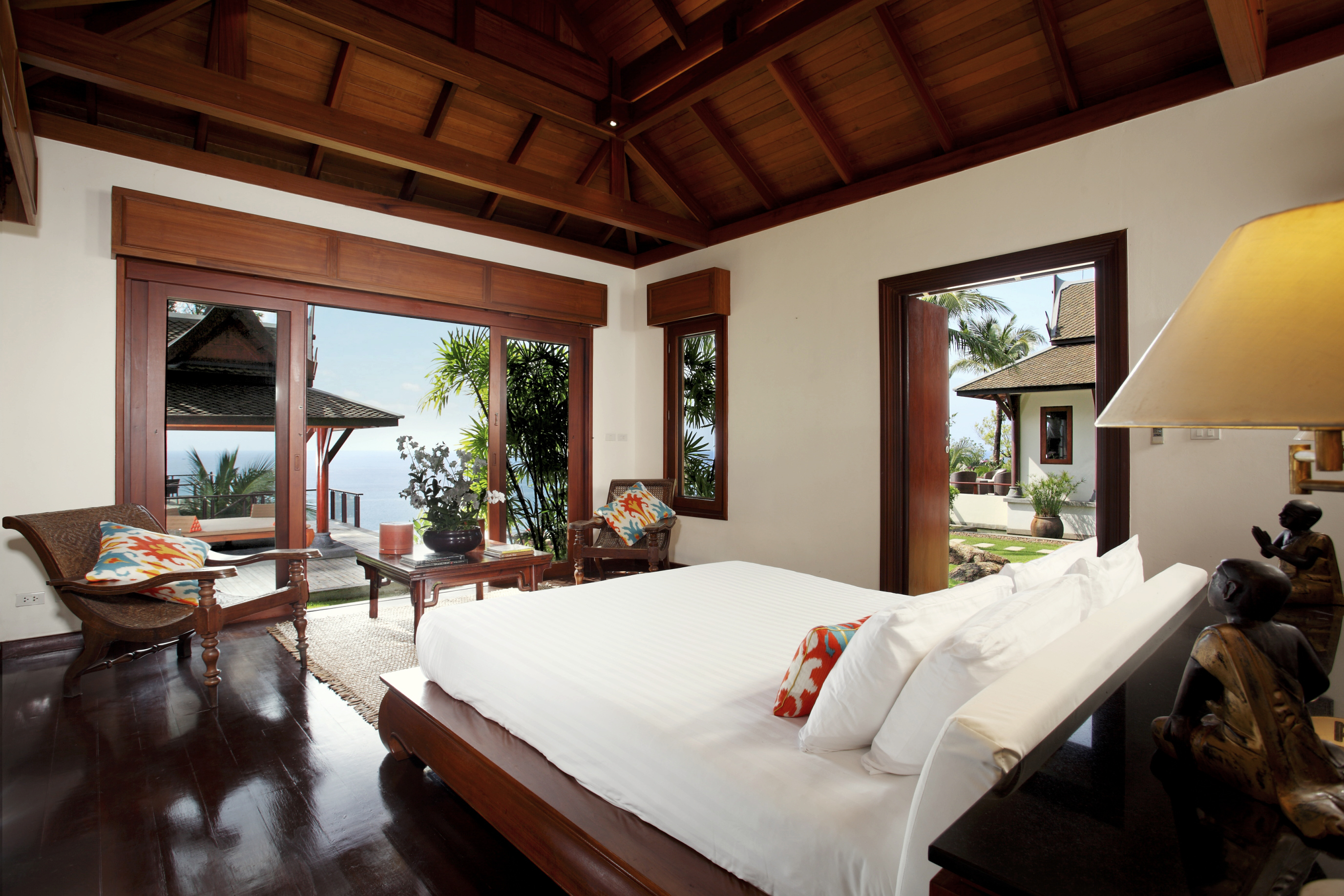 Beautiful master bedroom with ocean view