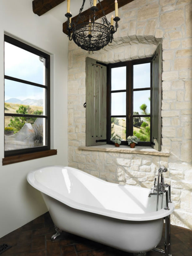 This antique claw foot tub seems like it's jumped out of a storybook page. Just one element of a spacious main floor master suite, other features include a romantic fireplace and bathroom with heated floors, steam shower and laundry #1. Let's all move into 1209, Castle Rock, CO listed at $2,699,999 by Stephen Redmond with Coldwell Banker Castle Pines.