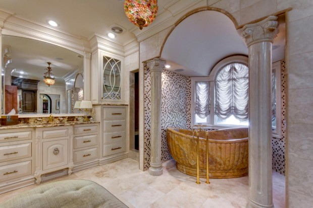 Perhaps one of the most stunning features of this Springfield, MO home is this spectacular marble bathtub made from one solid piece of imported marble from China.  This regal property is located at  2991 S Thornridge Drive, Springfield, MO and is listed at $1,725,000 by Judy Huntsman with Coldwell Banker Vanguard, Realtors.