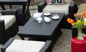 Cozy Patio Furniture On Luxury Outdoor Patio