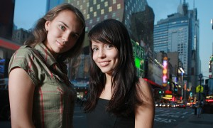 Two Beautiful Girls In New York City