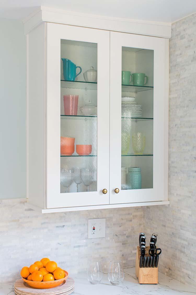 The Trick To Organizing A Kitchen With Glass Front Cabinets Part 53