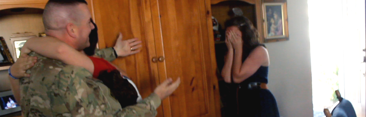 Military Dad Surprises Family with Emotional Homecoming