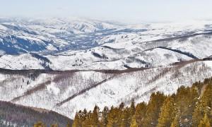 Snow Mountain Top View