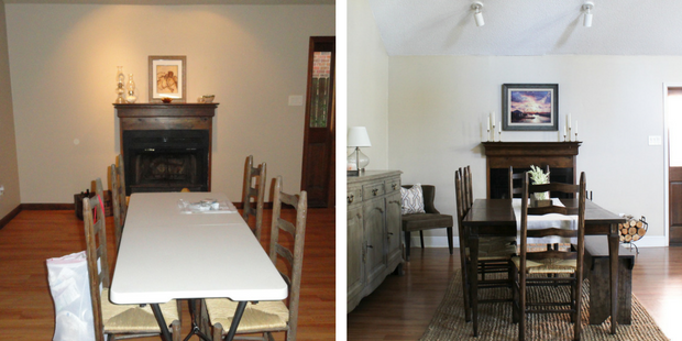 Dining Area Before & After
