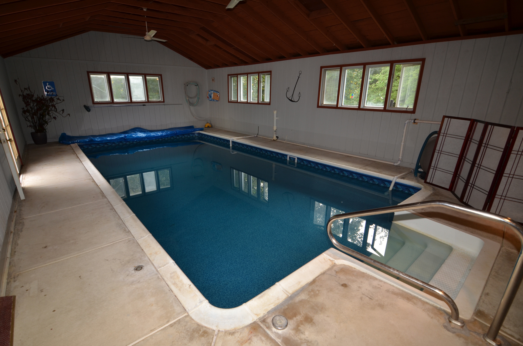 Indoor pool at 26 Cromwell Dr in Chesterfield, NJ
