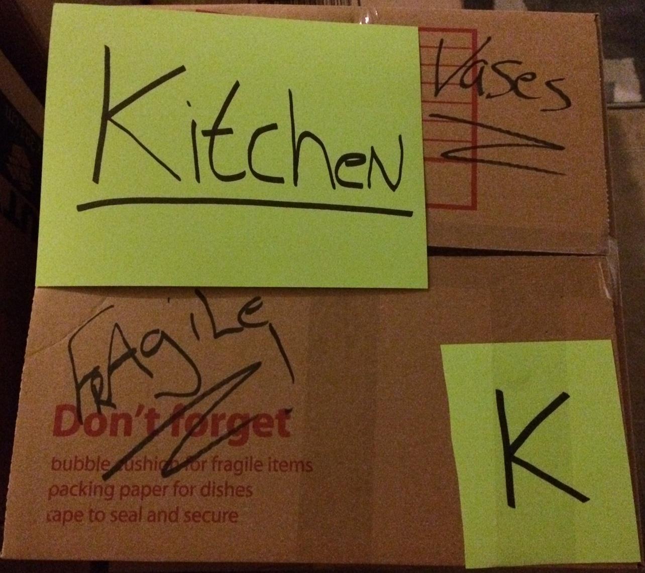 Color coordinate your box labels