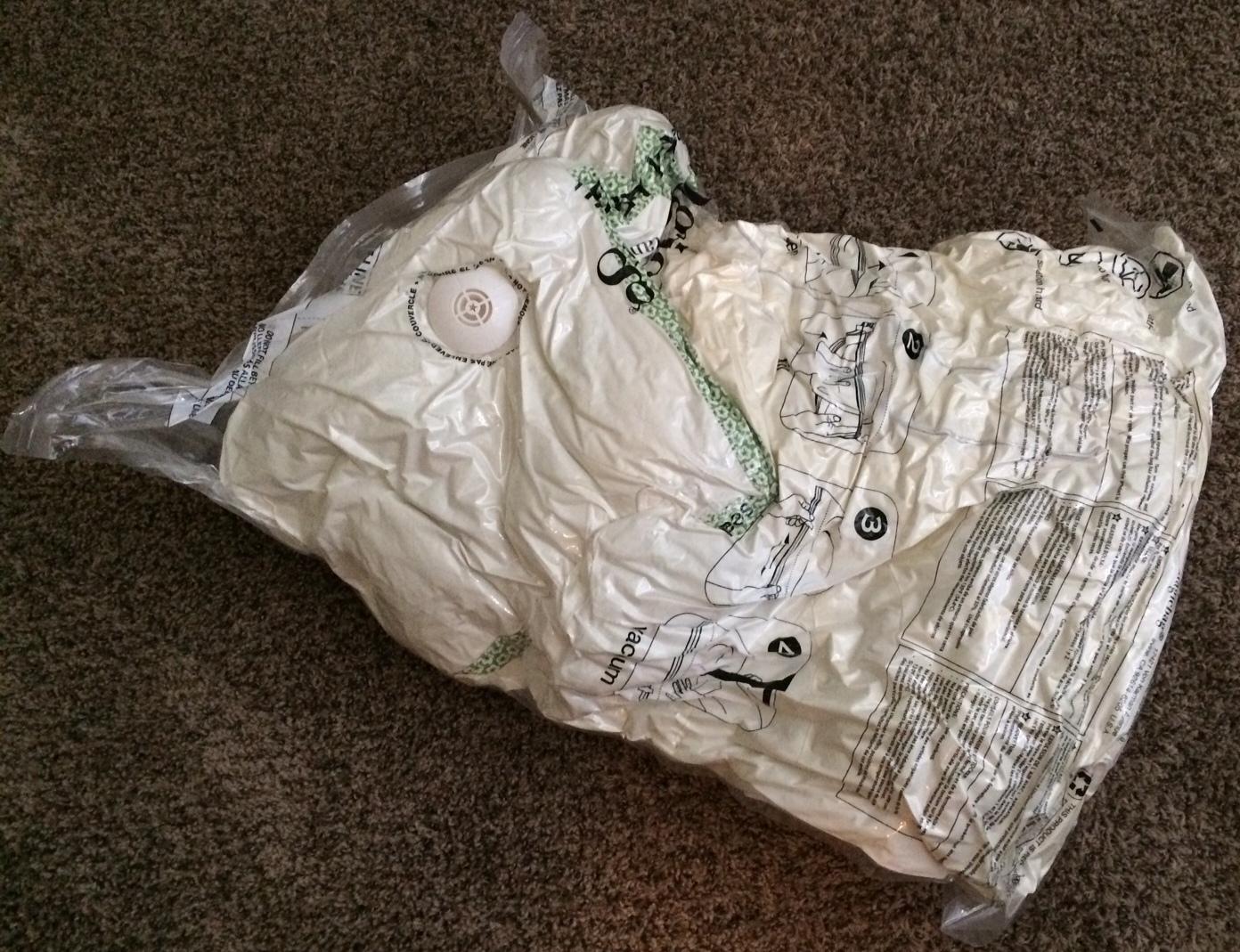Pack bedding in vacuum bags